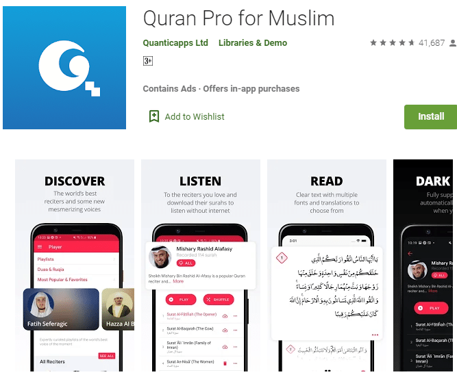 gambar aplikasi al-quran terbaik 2020 dari quran pro for muslim
