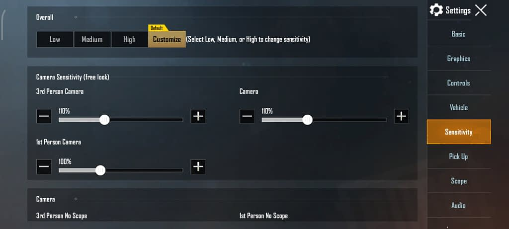 Setting Sensitivitas PUBG Mobile