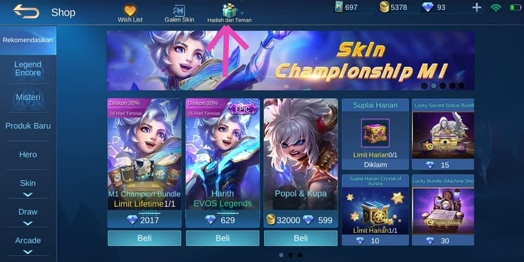 Mobile Legends Shop