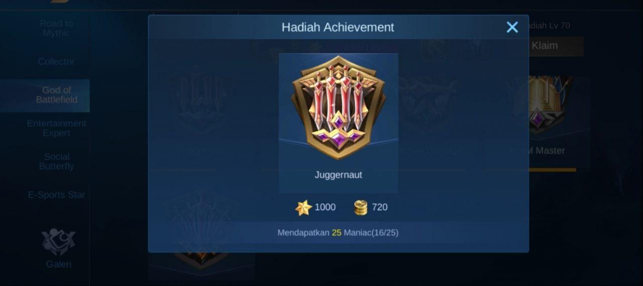 Selesaikan Misi Achievement