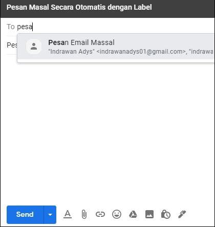kirim email masal