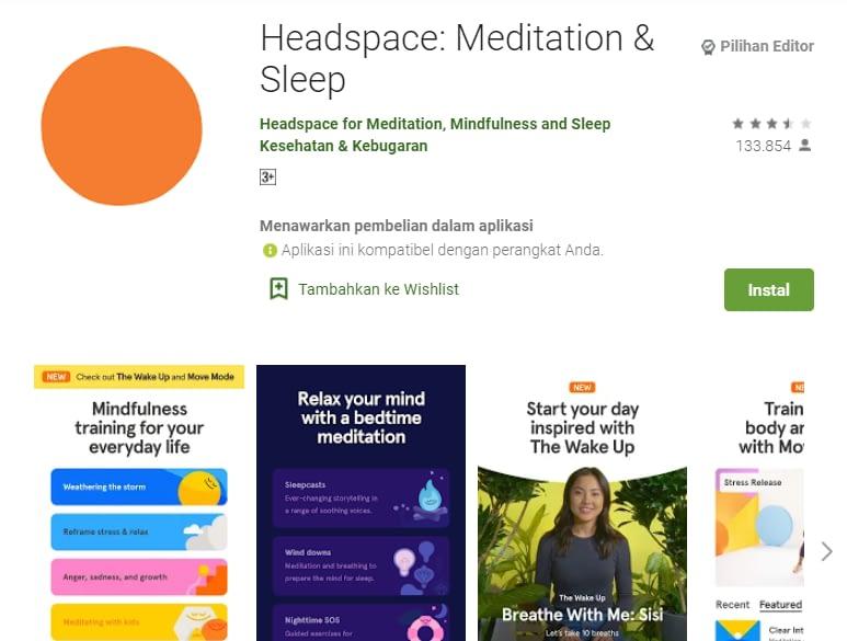 rekomendasi aplikasi meditasi
