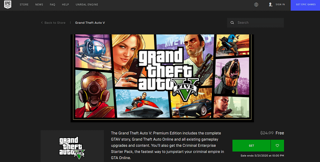 GTA Epic Games