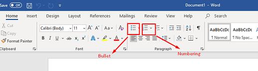 Cara Menggunakan Bullet dan Numbering