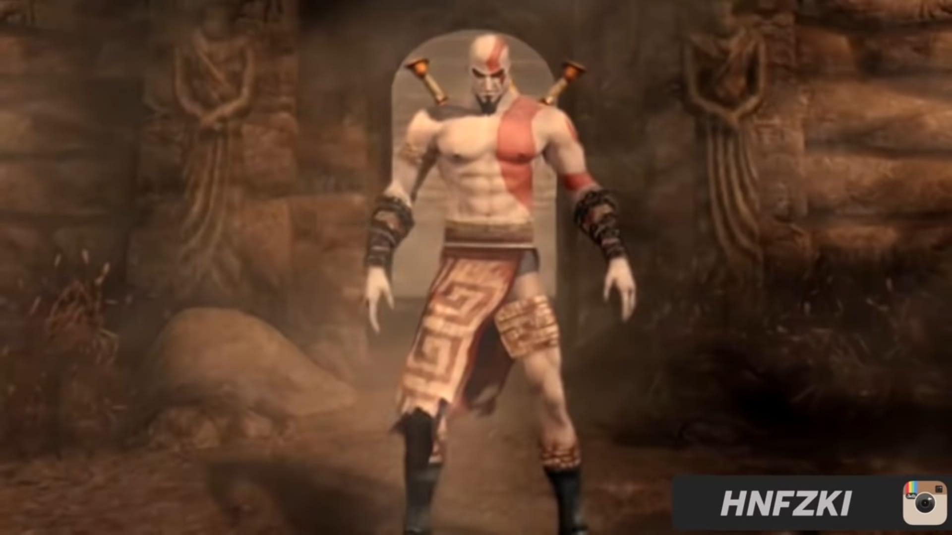 Tubuh Kratos yang sudah dikutuk