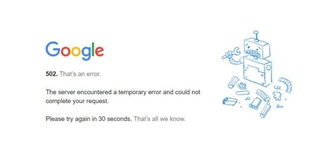 jenis error di Internet